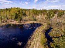 imagen del abejón Vista aérea de la zona rural Fotos de archivo libres de regalías