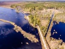 imagen del abejón Vista aérea de la zona rural Foto de archivo libre de regalías
