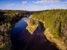 imagen del abejón Vista aérea de la zona rural Imágenes de archivo libres de regalías