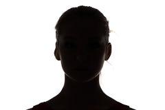 Imagen del adolescente de la silueta Foto de archivo libre de regalías