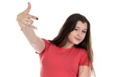 Imagen del adolescente y de fingeres Fotos de archivo libres de regalías