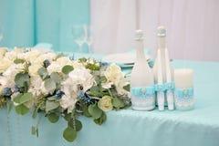 Imagen del adornado maravillosamente casandose la tabla Foto de archivo libre de regalías