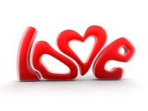 Imagen del amor del texto Foto de archivo libre de regalías