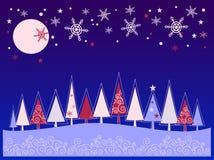 Imagen del Año Nuevo con el piel-árbol Fotografía de archivo libre de regalías