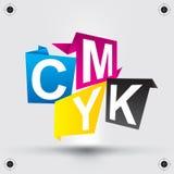 Imagen del arte del diseño de letras de CMYK Imágenes de archivo libres de regalías
