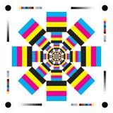 Imagen del arte del diseño de letras de CMYK Imagenes de archivo