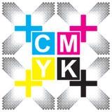 Imagen del arte del diseño de letras de CMYK Imagen de archivo