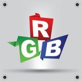 Imagen del arte del diseño de letras del RGB Imagen de archivo