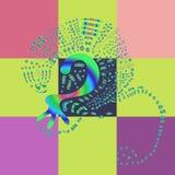 Imagen del arte: lagarto colorido Foto de archivo libre de regalías