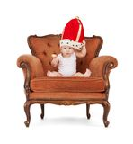 Bebé con el lollipop Imagenes de archivo