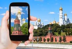 Imagen del campanario de Ivan The Great en el Kremlin Imagen de archivo libre de regalías