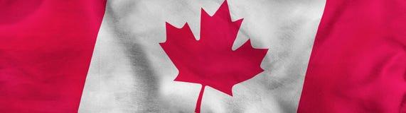 imagen del cierre de la bandera de Canadá para arriba Fotografía de archivo libre de regalías