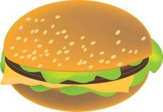 Imagen del clipart de la hamburguesa del vector Imágenes de archivo libres de regalías