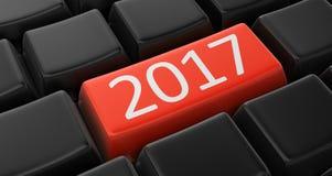 Imagen del concepto clave 2017 Imágenes de archivo libres de regalías