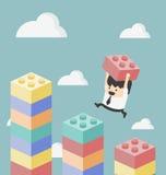 Imagen del concepto de hacer éxito de la estrategia Imagen de archivo