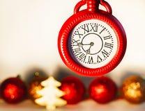 Imagen del concepto de la Navidad sobre el fondo blanco Noche Vieja foto de archivo