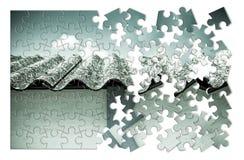 Imagen del concepto de la retirada de amianto Fotografía de archivo libre de regalías