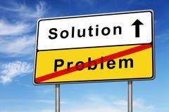 Concepto de la señal de tráfico de la solución Foto de archivo libre de regalías