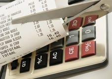 Imagen del concepto de los costos Foto de archivo libre de regalías