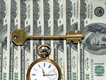 Imagen del concepto del tiempo y del dinero. Imagen de archivo