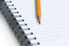 imagen del cuadernos y lápiz fotos de archivo libres de regalías