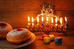 Imagen del día de fiesta judío Jánuca Foto de archivo libre de regalías
