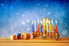 Imagen del día de fiesta judío Jánuca Imagen de archivo libre de regalías