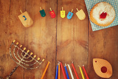 Imagen del día de fiesta judío Jánuca fotos de archivo libres de regalías