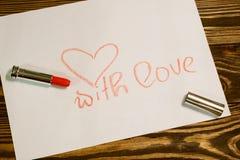 Imagen del día de tarjetas del día de San Valentín Fotos de archivo