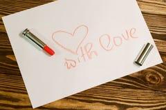 Imagen del día de tarjetas del día de San Valentín Imagen de archivo libre de regalías