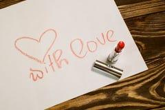 Imagen del día de tarjetas del día de San Valentín Imágenes de archivo libres de regalías