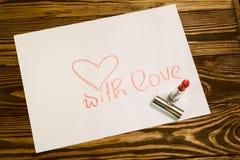 Imagen del día de tarjetas del día de San Valentín Imagen de archivo