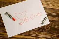 Imagen del día de tarjetas del día de San Valentín Imagenes de archivo