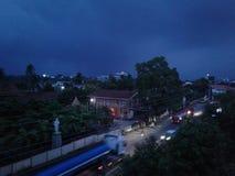 Imagen del día lluvioso de Sri Lanka Foto de archivo