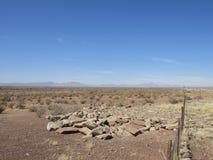 Imagen del desierto con la cerca Foto de archivo