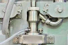 Imagen del detalle del equipo de fabricación Foto de archivo libre de regalías