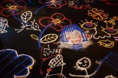 Imagen del dibujo de la arena del color Imagenes de archivo