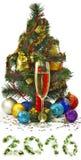 Imagen del diverso primer de las decoraciones de la Navidad Imagenes de archivo