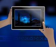 Imagen del espacio en un teléfono elegante Fotografía de archivo