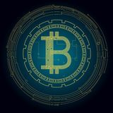 Imagen del fondo con el bitcoin crypto de la moneda libre illustration