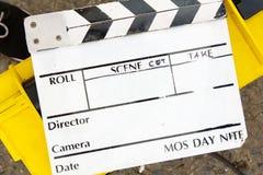imagen del fondo de la pizarra de la película Foto de archivo