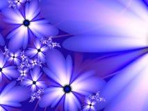 Imagen del fractal con las flores Para su texto Color azul foto de archivo