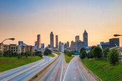 Imagen del horizonte de Atlanta Fotografía de archivo libre de regalías