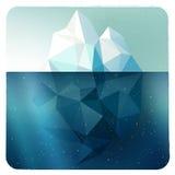 Imagen del iceberg en marco ilustración del vector