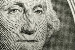 Imagen del icono americano, George Washington, del anverso del dólar americano libre illustration