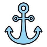 imagen del icono del ancla libre illustration