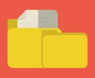 Imagen del icono de la carpeta de archivos Imagen de archivo libre de regalías