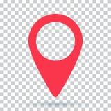 Imagen del icono de la localización de la navegación del mapa del Pin stock de ilustración