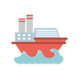 Imagen del icono de la navegación del barco libre illustration