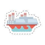Imagen del icono de la navegación del barco ilustración del vector
